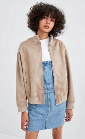 Nowa bomberka Zara S M zamsz wiosenna wiosna kurtka