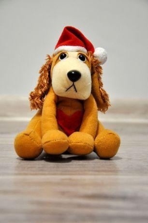 Мягкая игрушка собака новогодняя 15 см