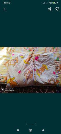 Набор постельного белья детского+ матрасик кокосовый