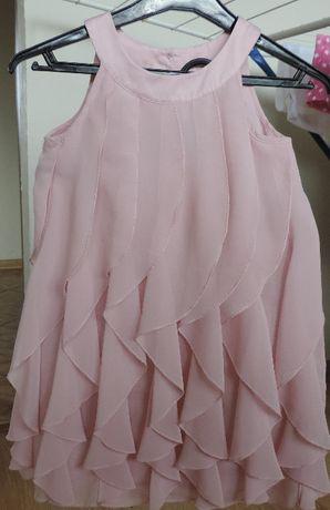 H&M zwiewna sukienka falbany roz.116 j.nowa