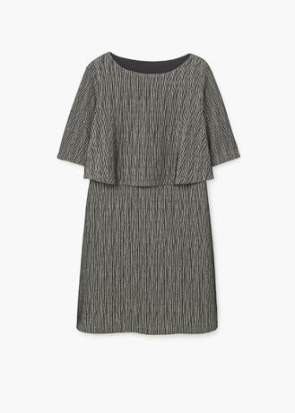 Mango NOWA elegancka sukienka metaliczna brokat elegancka S 36 M 38
