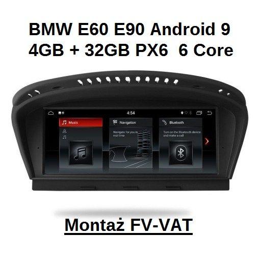 BMW E60 E90 Nawigacja Android 9.0 PX6 6 Core 4+32GB Montaż Skarżysko-Kamienna - image 1