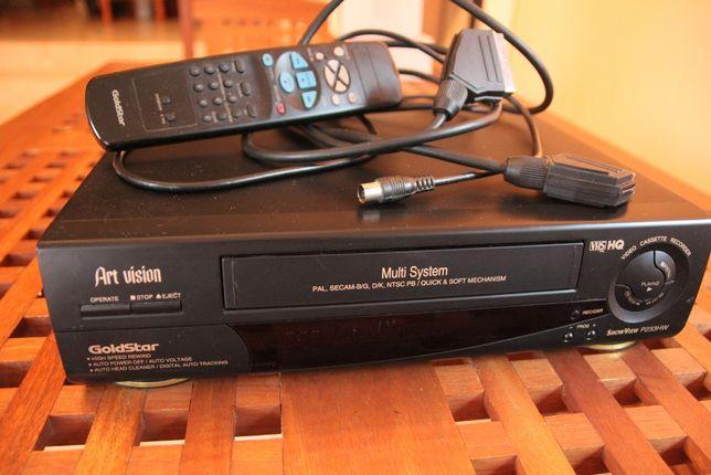 Magnetowid GoldStar Niesprawny P233HW Nagrywanie-Odtwarzanie kaset VHS