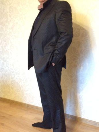 Костюм Versace оригинал брендовый шерсть  пиджак брюки мужской свадьба