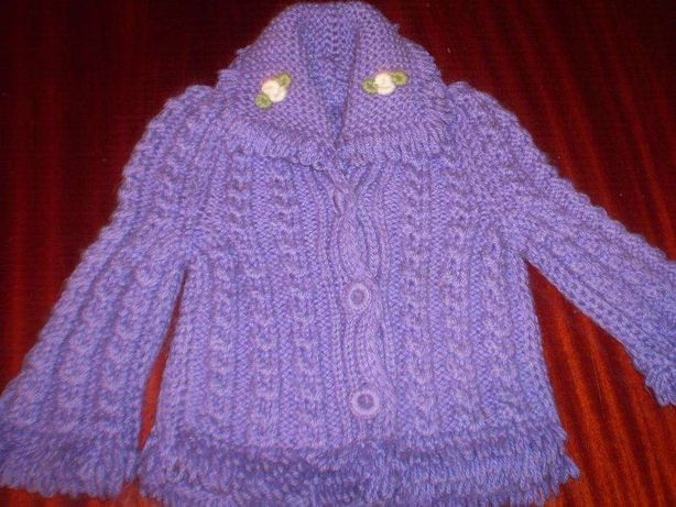 кофта (свитер) детская, на 2-3 года, вязаная