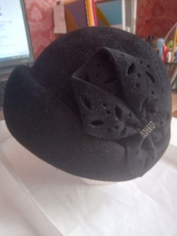 Шляпа фетровая черная 58см