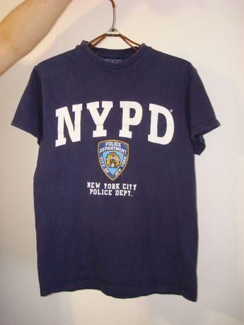 футболка NYPD,Полиция Нью-Йорка,р.S,винтаж,хорошее состояние,хлопок
