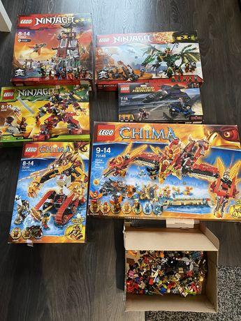 Lego zestawy Chima, Ninjago.