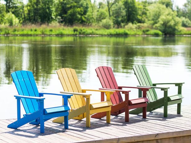 Cadeira de jardim azul ADIRONDACK - Beliani