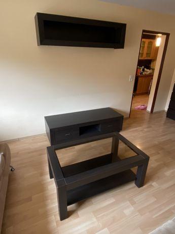 Zestaw mebli do salonu/ szafka telewizyjna/stolik kawowy/ półka