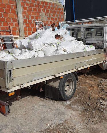 Recolha de entulho de obras e resíduos em contentores 6m³ e carrinhas