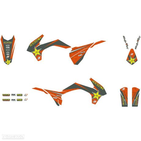 kit autocolantes blackbird rockstar energy ktm exc / sx