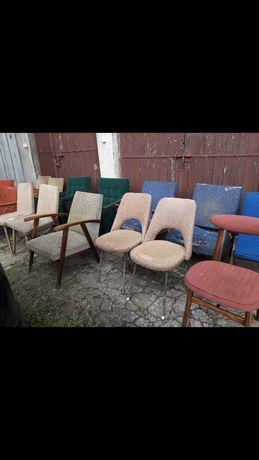 fotele krzesła prl