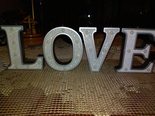 Napis LOVE- na ślub, Walentynki