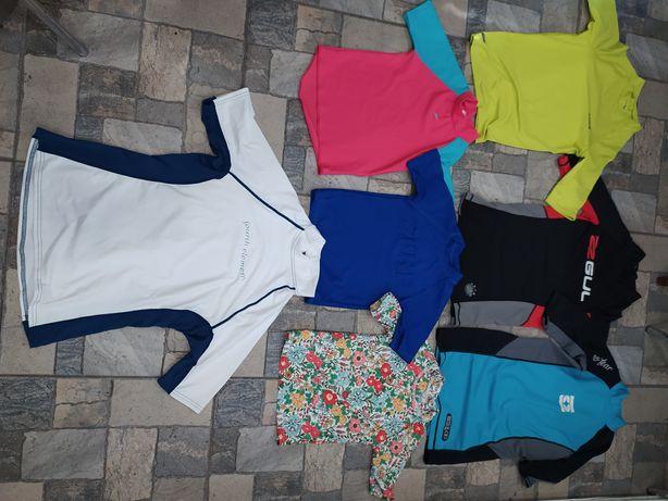 Футболки для плавання,сонцезахисні футболки