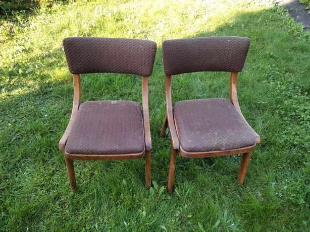 Krzesełka tapicerowane PRL