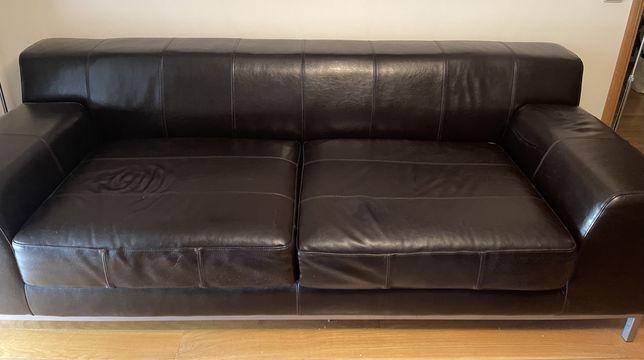 Sofá em pele Ikea 220 cm