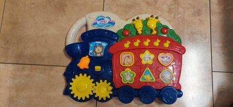 Zabawka edukacyjna interaktywna pociąg z zwierzętami