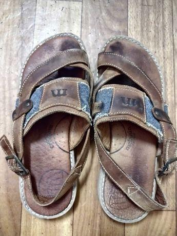 Детские сандалии натуральная кожа джинс сандали