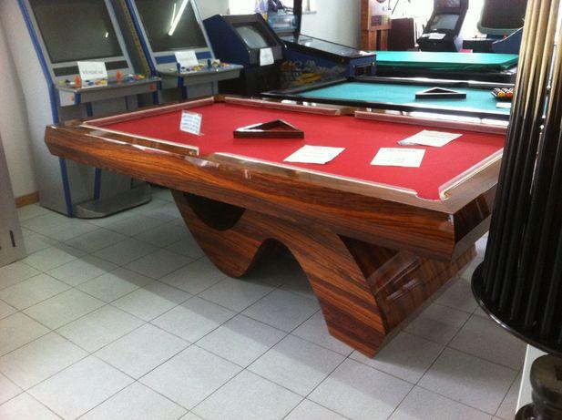 Bilhar Snooker moderno em madeira de Pau Ferro