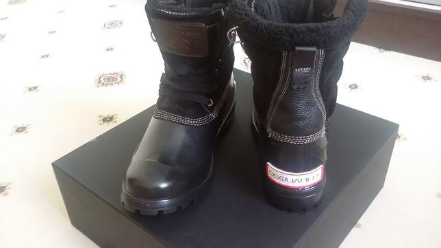 Продам сапоги DSquared2 40p на меху черного цвета