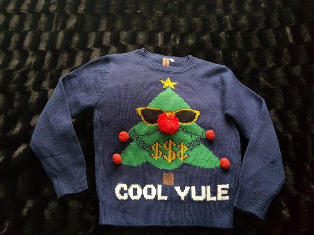 Sweter świąteczny dla chłopca 134