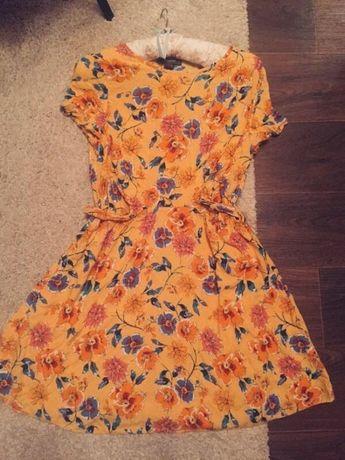 Платье натур.   штапель с принтом