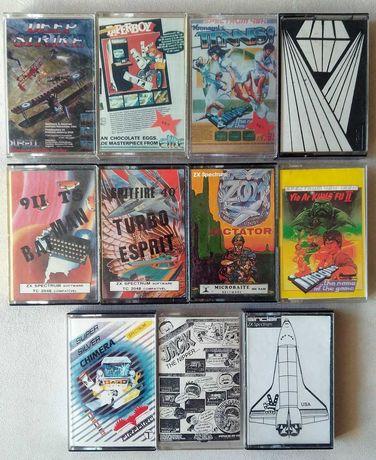 Jogos em cassete Sinclair ZX Spectrum 48k/128k/Timex 2048