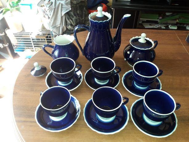 Zestaw kawowy niebieski