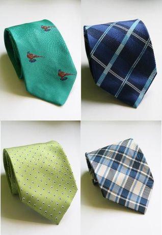 Krawaty różne wzory i kolory - włókna syntetyczne