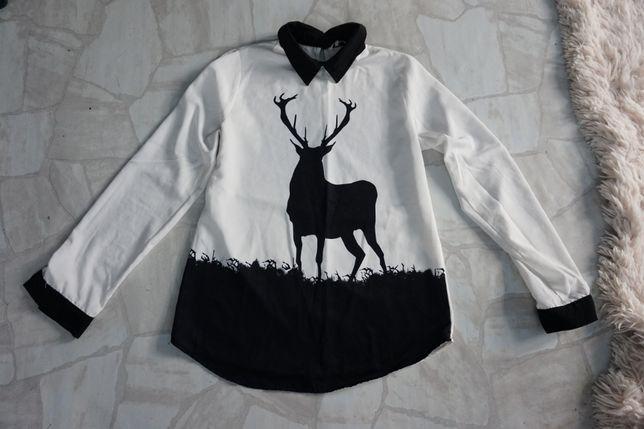 Unikalna koszula z reniferem M