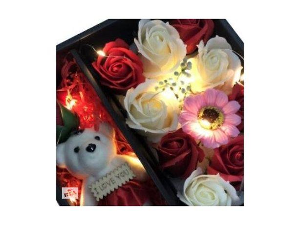 Подарочный набор мыла из роз с Мишкой XY19-79! ТОП Продаж!!!