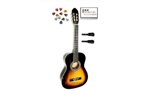 ! Gitara klasyczna 3/4 PRIMA +3 kostki+pokrowiec+kurs DARMOWA Wysyłka