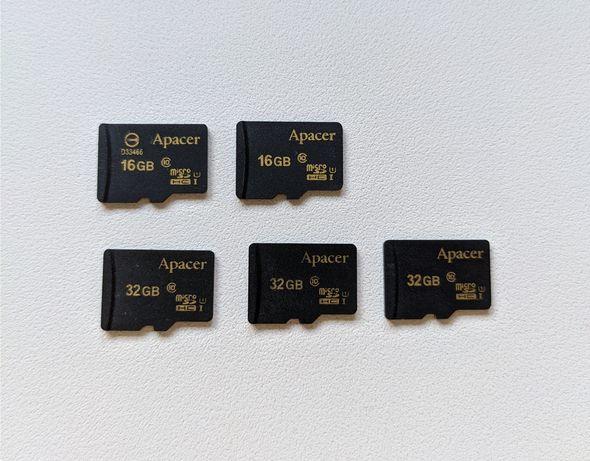 Карта памяти Apacer 16 GB, 32GB microSDHC Class 10