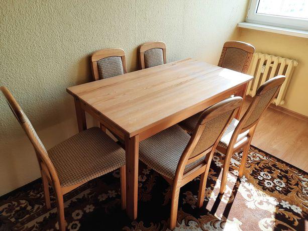 Stół i 6 krzeseł drewno sosna