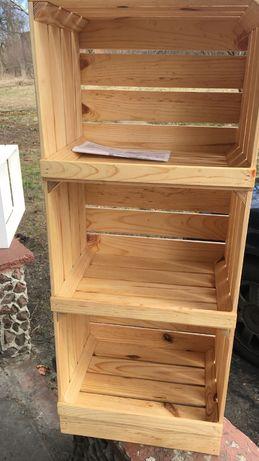 Półki Regał drewniany ze skrzynek 40x30x97