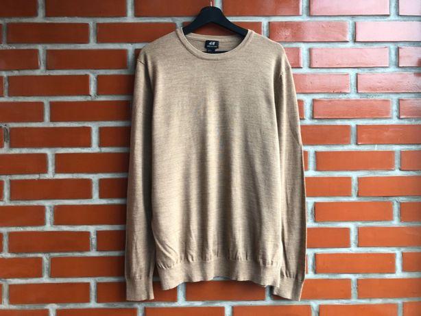 H&M Merino Wool мужской шерстяной свитер джемпер размер XL Б У
