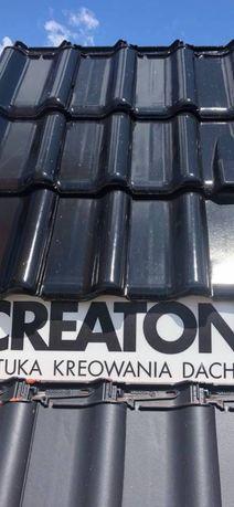 Dachówka creaton Titania czarna glazura glossy 100 sztuk
