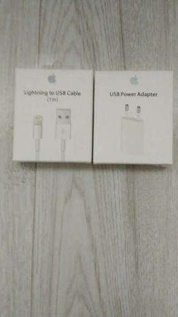 Oryginalny kabel+ ladowarka Iphone Komplet i inne