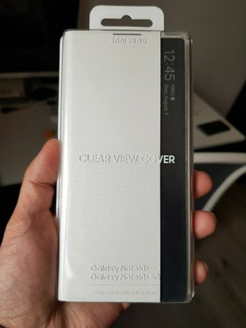Clear view cover case original for Samsung note 10 not plus