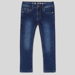 Стильные синие джинсы на мальчика 2-4 года  Name it
