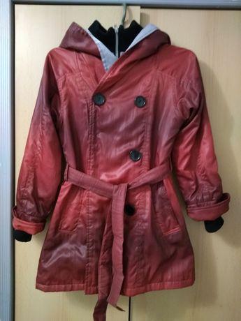 Куртка-плащ на девочку демисезонная р. 150