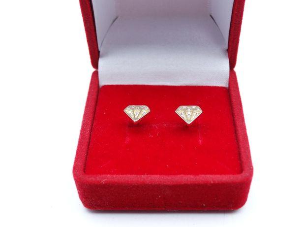 Piękne złote kolczyki P585 1,29g 14K LOMBARD66