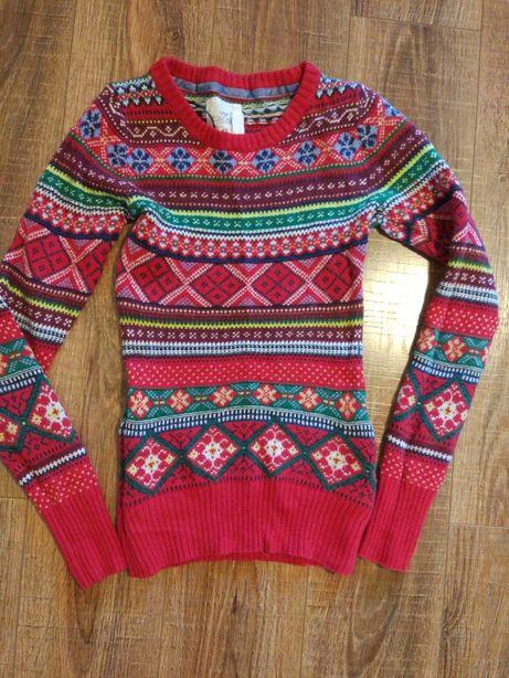Новогодний свитер H&M. Стильная кофта H&M
