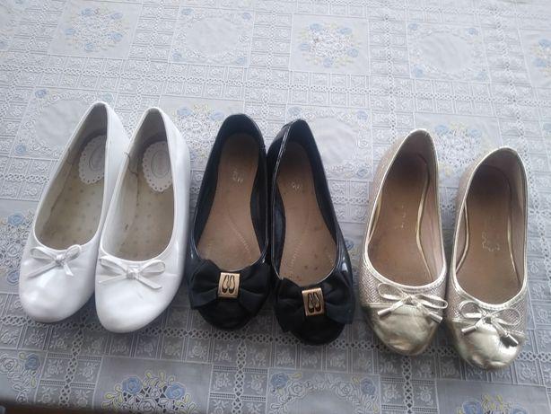 Baleriny buty na dziewczynkę