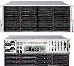 4U 36 дисковый корпус Supermicro SC847 (4U, 2 блока питания по 1280W)
