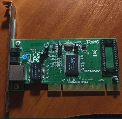 Гигабитный сетевой адаптер карта tp-link tg 3269 в рабочем состоянии.