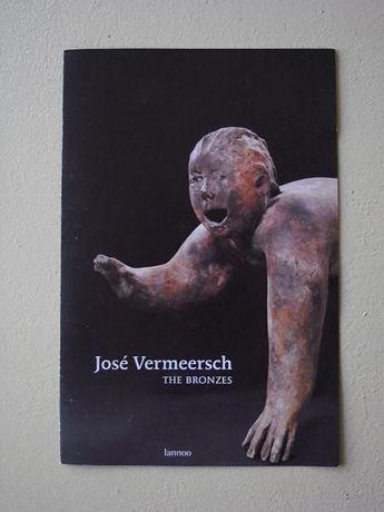 brochura arte jose vermeersch o bronze escultura