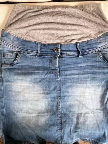Ciążowa dzinsowa spodnica C&A -Okazja!