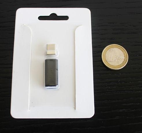 Adaptador / conversor magnético micro-USB para Type-C (NOVO E SELADO)